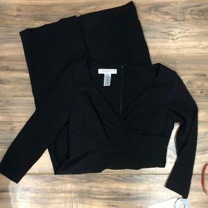 NWT Nine West 3/4 sleeve black dress sz 6